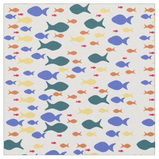 "Fishes Custom Combed Cotton (56"" width) Fabric"