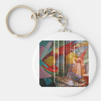 FISHES ~ LOAVES ~ AND FAITH FACTOR BASIC ROUND BUTTON KEY RING