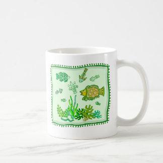 Fishes Quilt Coffee Mug