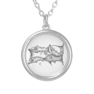Fishes Silver Plated Necklace