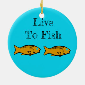 fishes swimming ceramic ornament