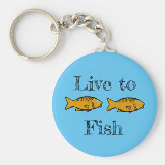 fishes swimming key ring