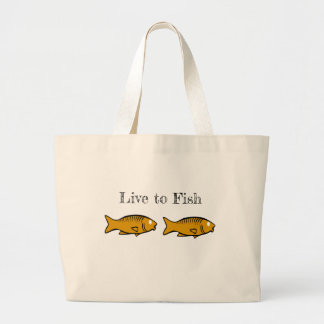 fishes swimming large tote bag