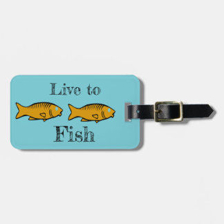 fishes swimming luggage tag