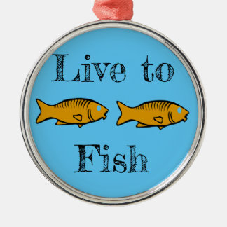 fishes swimming metal ornament
