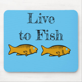 fishes swimming mouse pad