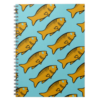 fishes swimming spiral notebook
