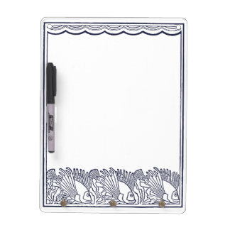 Fishes Swimming Under the Waves Dry Erase White Board