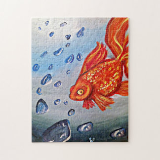 Fishey Fishey Puzzle- Art By Meaghen King Jigsaw Puzzle