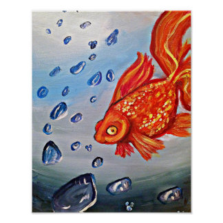 Fishey Poster- Art By Meaghen King Poster