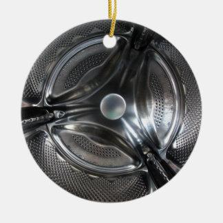 Fisheye Washing Machine Drum inside Ceramic Ornament