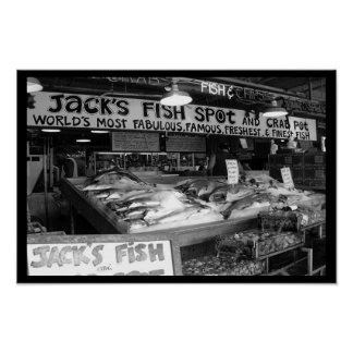 Fishin' at Pike Place Market Poster