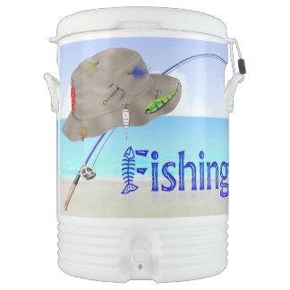 Fishing 10 Gallon Beverage Cooler