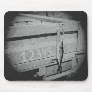 Fishing 12345 once I caught a fish black and white Mouse Pad