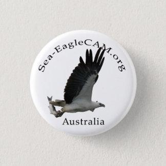 Fishing Adult Sea-Eagle Button