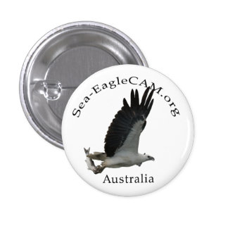 Fishing Adult Sea-Eagle Button