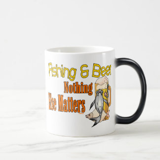 Fishing and Beer Nothing Else Matters Morphing Mug