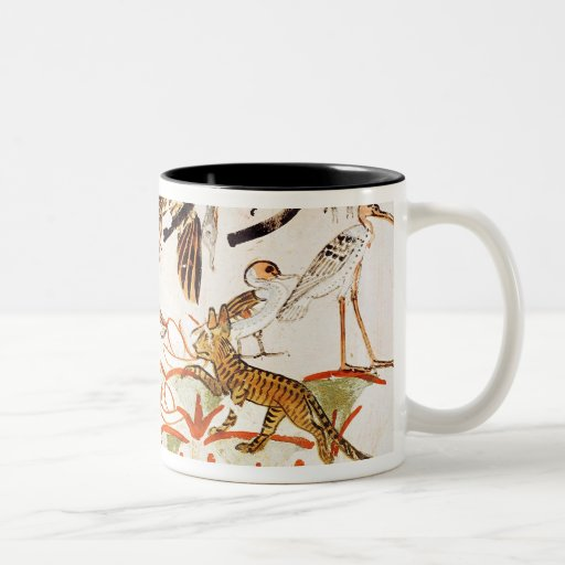 Fishing and fowling in the marshes coffee mug