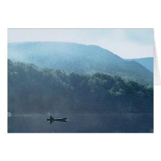 Fishing at Saco Lake Blank Card