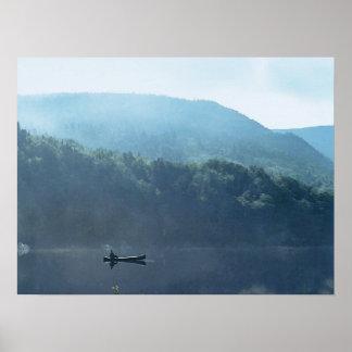 Fishing at Saco Lake Poster