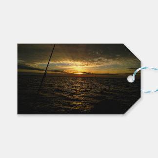 Fishing at Sunset Gift Tags