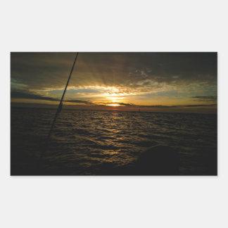 Fishing at Sunset Rectangular Sticker