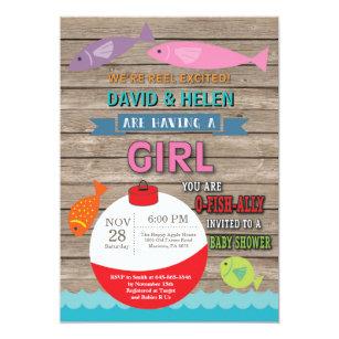 Fishing baby shower invitations zazzle fishing baby shower invitation girl fish filmwisefo
