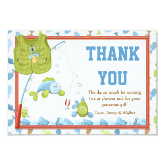 Fishing Baby Shower Thank You Card