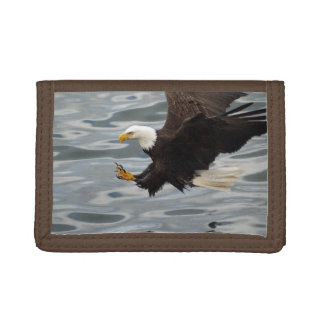 Fishing Bald Eagle Birdlovers Wildlife Photo 6 Tri-fold Wallets