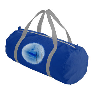 Fishing big fish blue and white rods dream of fish gym duffel bag