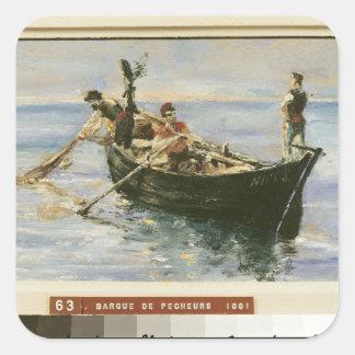 Fishing Boat, 1881 Square Sticker