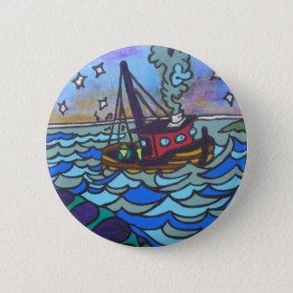 Fishing Boat 6 Cm Round Badge