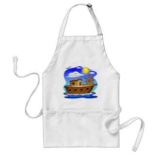 Fishing Boat Cartoon Standard Apron