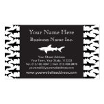 Fishing Boat Charter / Scuba Diver - Shark Pattern Pack Of Standard Business Cards