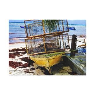 Fishing Boat ~ Fish Pods ~ Barbados Canvas Print
