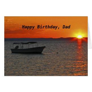 Fishing Boat Happy Birthday Dad Cards