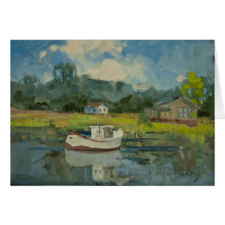 Fishing Boat in the Salt Marshes Card