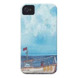 Fishing Boat iPhone 4 Cover