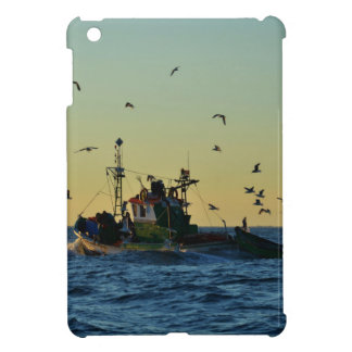 Fishing Boat Mobbed By Gulls Covers For iPad Mini