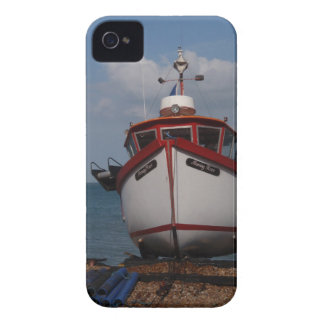 Fishing Boat Morning Haze On Beach iPhone 4 Cases