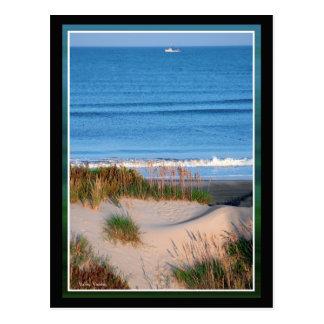 Fishing Boat Near the Horizon Postcards