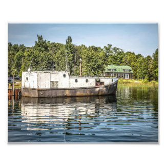 Fishing Boat off Washington Island Photo Print