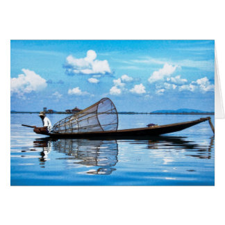 Fishing Boat on Inle Card