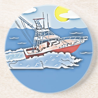 Fishing Boat on the High Seas Drink Coasters