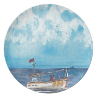 Fishing Boat Party Plates