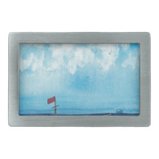 Fishing Boat Rectangular Belt Buckles