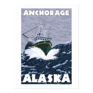 Fishing Boat Scene - Anchorage, Alaska Postcard