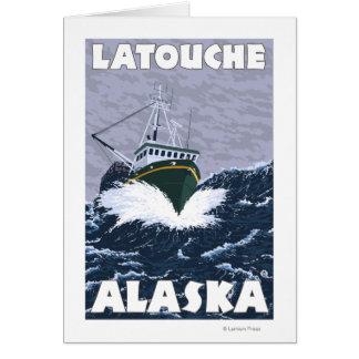 Fishing Boat Scene - Latouche, Alaska Card