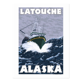 Fishing Boat Scene - Latouche, Alaska Postcard