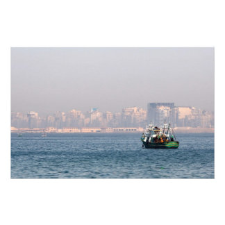 Fishing boat stationery paper